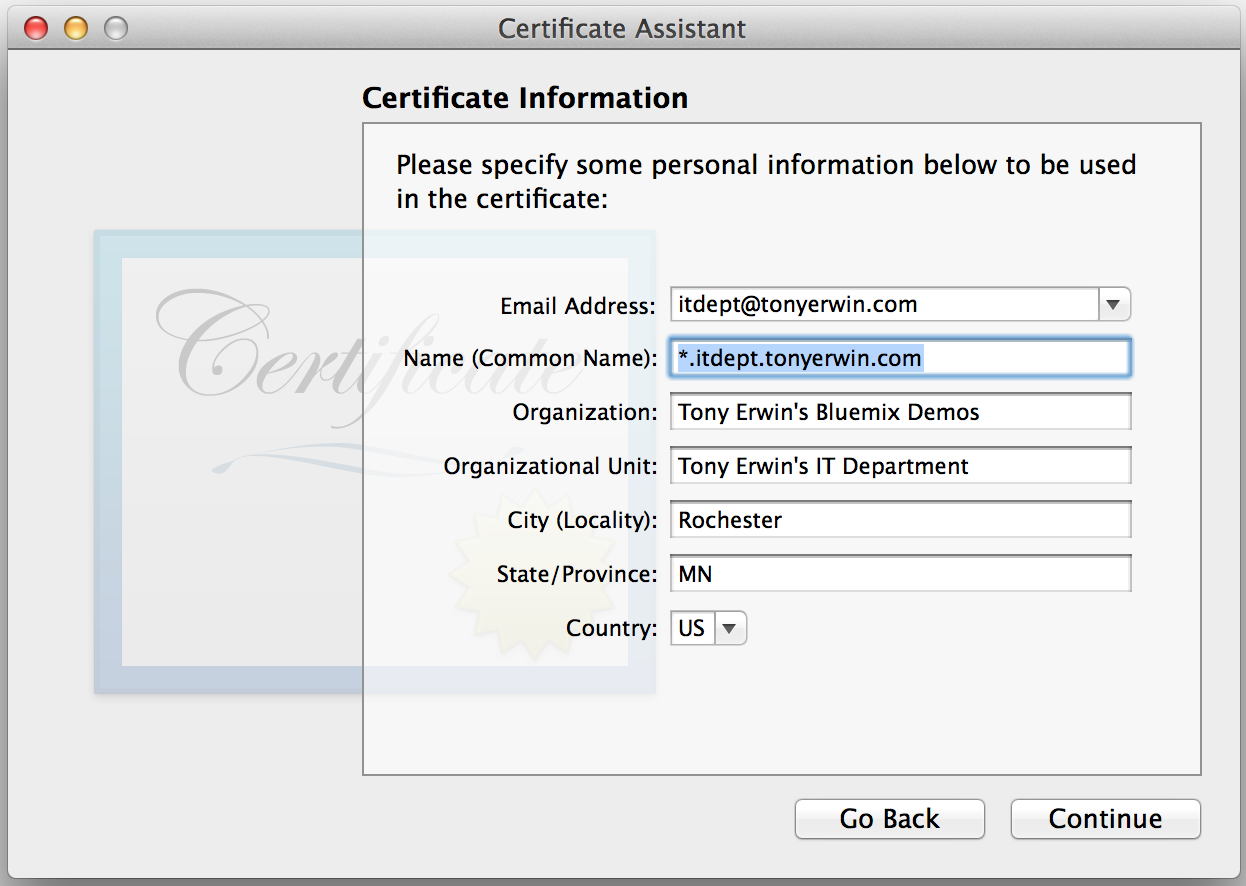 Keychain Access: Main Certificate Attributes