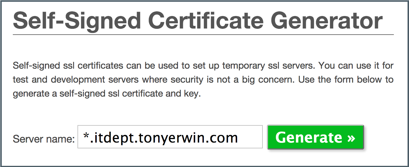 Generating self signed ssl certificates for use with bluemix entering domain in online self signed certificate generator xflitez Image collections