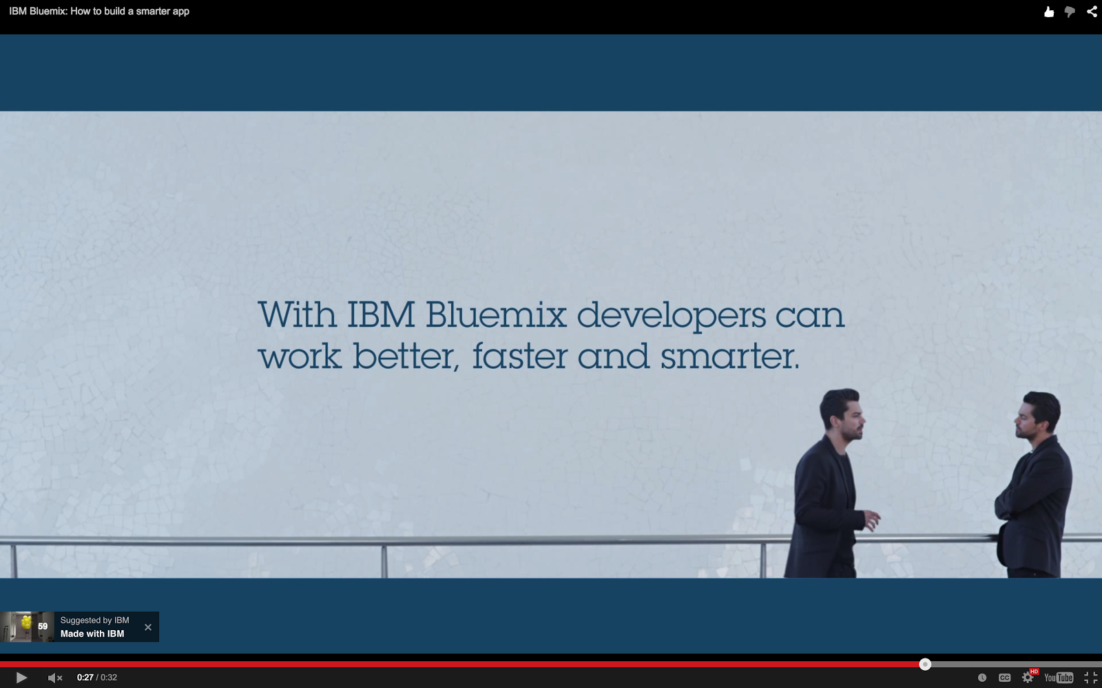 Bluemix YouTube: With IBM Bluemix Developers Can Work Better, Faster, Smarter